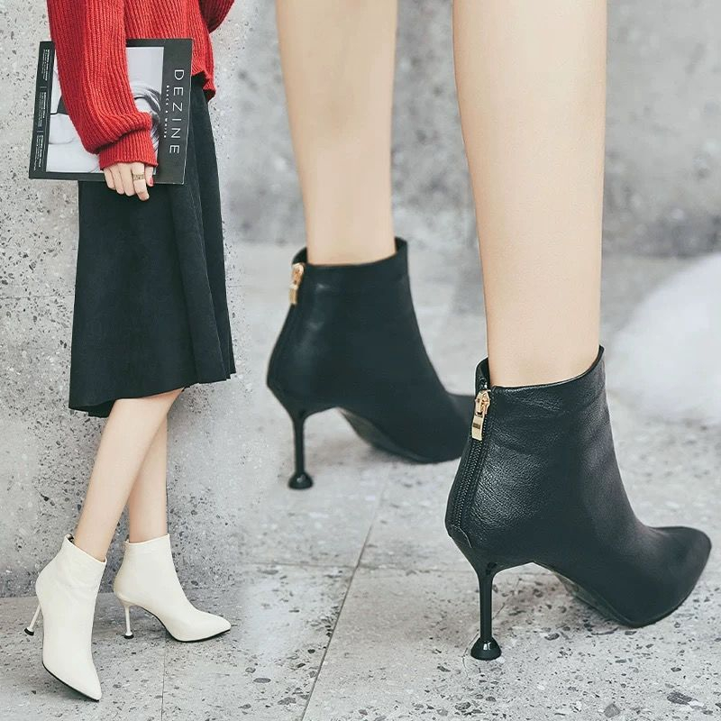 Sepatu Boots Wanita Model Korea High Heels Untuk Musim Dingin
