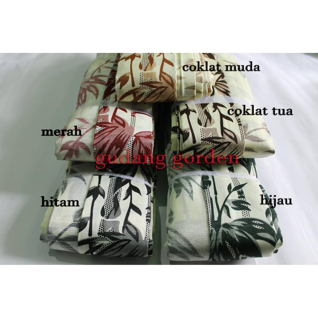 1m X 185cm Gorden Plisket Saten Bunga Shopee Indonesia Bahan Lebar 1 M Tinggi 185 Cm