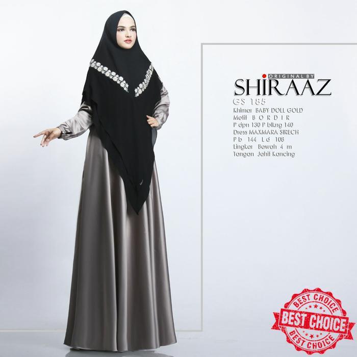 gs 185 by SHIRAAZ gamis syari maxmara premium original | Shopee Indonesia