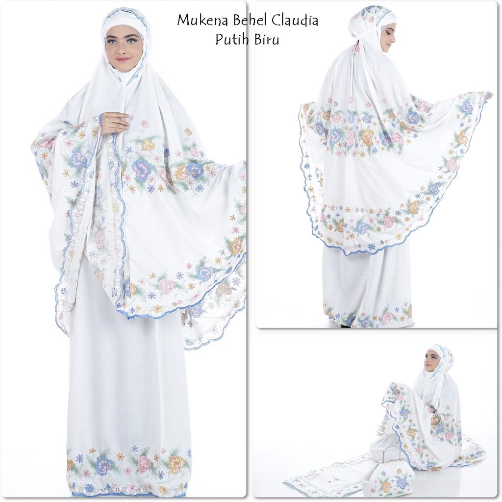 Mukena Exclusive Behel Madelyne Shopee Indonesia Ukhuwah Double Hycon Merah Maroon