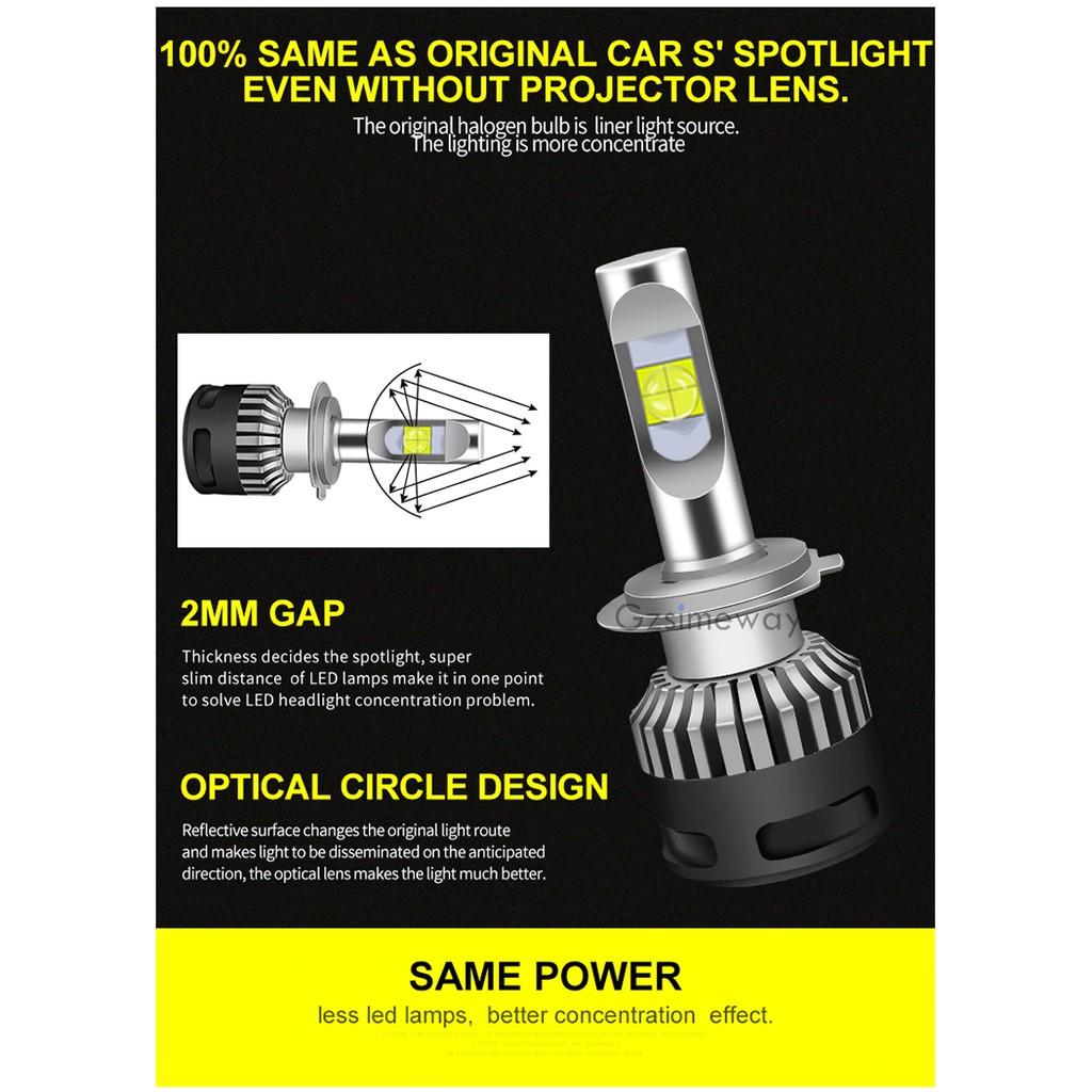 H7 DC 9-32V 6000K White Auto Car 12000LM LED Bulb Head Light Fog Daytime Lamps