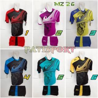TERBARU MIZUNO 26 Baju Kaos Olahraga Jersey Bola Setelan Futsal / Volly
