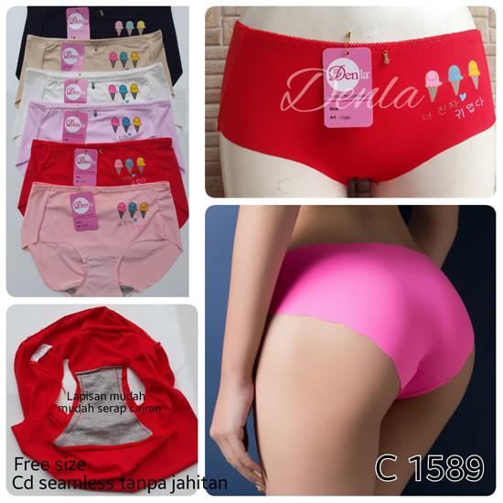 cd celana dalam wanita seamless merk denla kode 1589 ice cream ... 81bff6fd3f