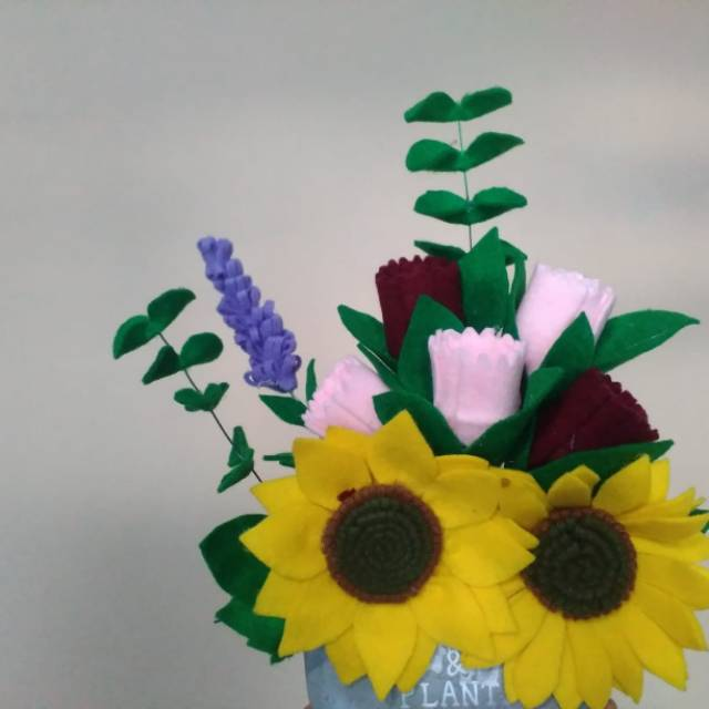 Vas Bunga Cantik Kain Flanel Shopee Indonesia