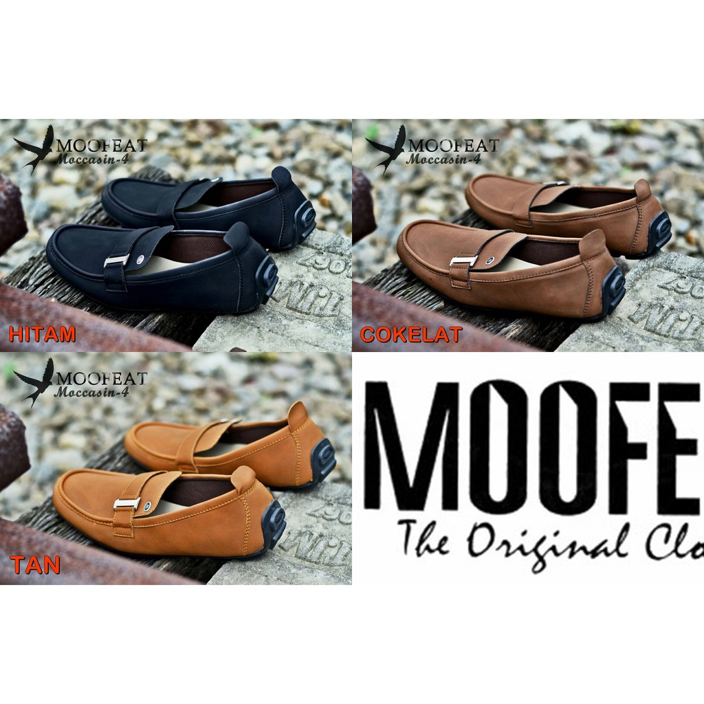 Moofeat Strike Slop Sepatu Casual Pria Slip On   Loafers Formal Murah  9142193e46