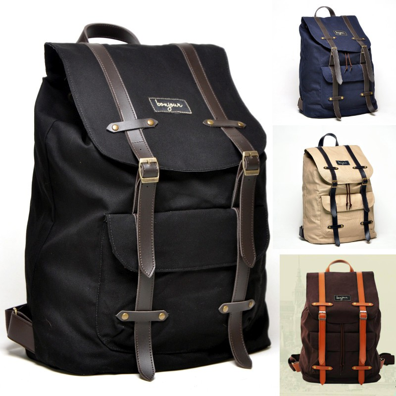 Bonjour Alphonse - Tas Punggung Ransel Backpack Laptop Vintage Mantap  e8529e66d9