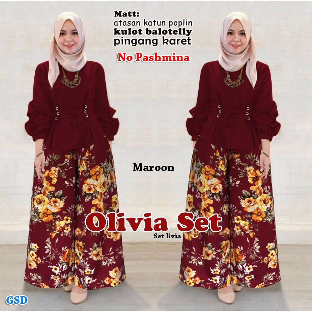 Gsd Fashion Baju Muslim Wanita Set Levi Salem Daftar Update Harga Kekinian Dress Sauqina M Sw Rayon Dapatkan Setelan