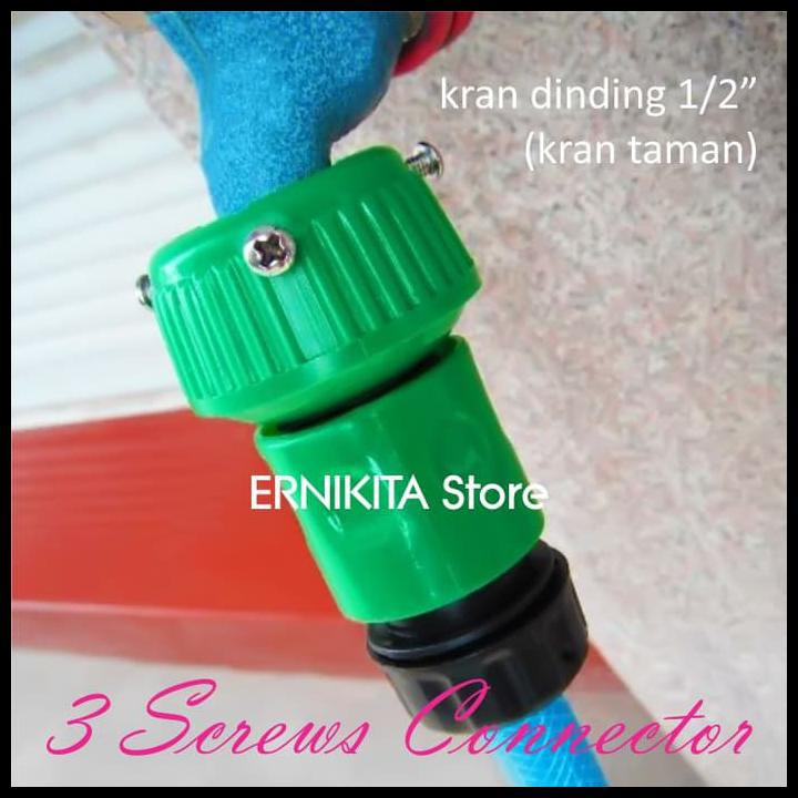 ERNIKITA Konektor Kran Air 3 MUR Selang Magic Expandable X Hose | Konektor 3 MUR |