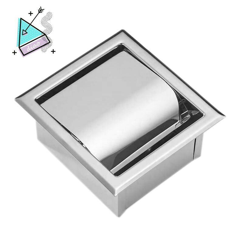 Stainless Steel Recessed Toilet Paper