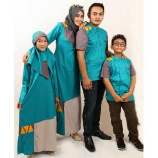 D03 | Sarimbit couple keluarga seragam muslim baju baru koko gamis ayah ibu anak