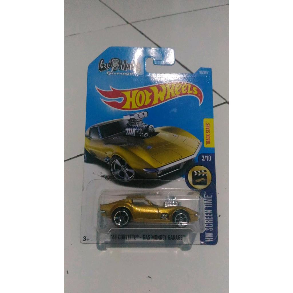 [READY] Hot Wheels 2017 68 Corvette GAS Monkey Garage Gold Limited   Shopee Indonesia