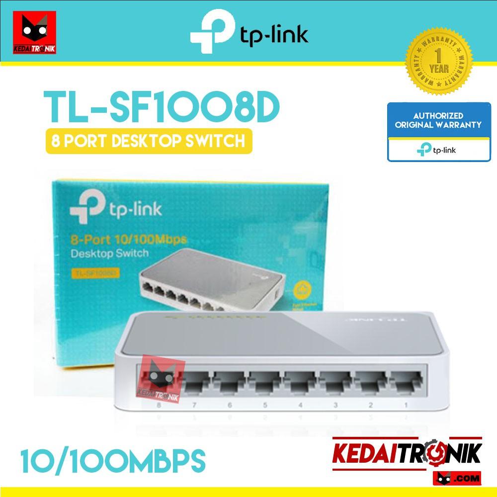 Tp Link Tl Sf1008d 8 Port 10 100mbps Desktop Switch 1008d 8port Shopee Indonesia