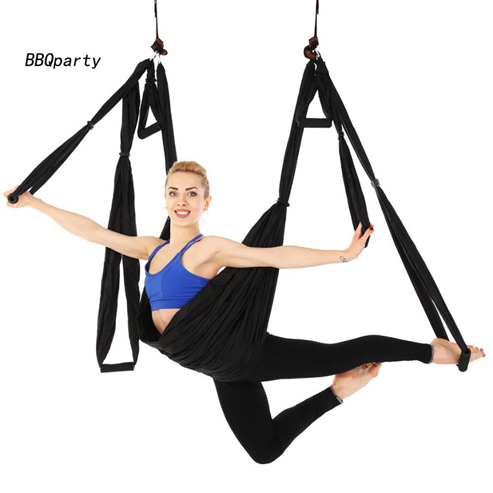 Bbq Yoga Anti Gravity Gym Hanging Inversion Flying Swing Aerial Yoga Ceiling Hammock Shopee Indonesia