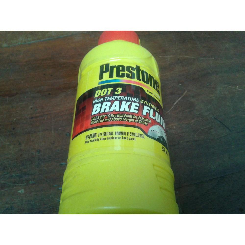 Brake Fluid Minyak Rem Dot 3 Prestone 1 Ltr Merah Red Shopee Seiken Netral Liter Indonesia