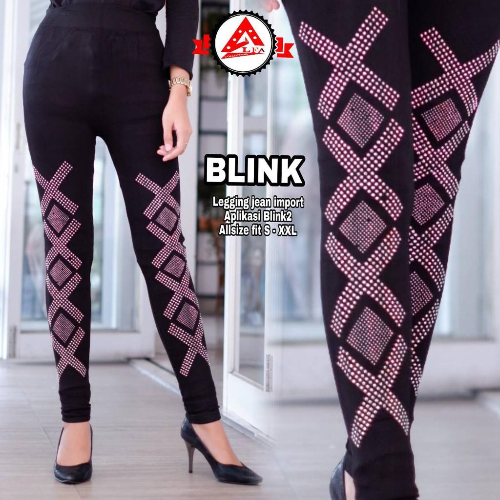 Celana Legging Wanita Motif Blink Terbaru Shopee Indonesia