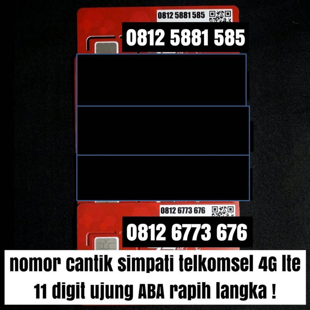 kartu perdana telkomsel simpati 11 digit 4G lte nomer cantik langka   Shopee Indonesia
