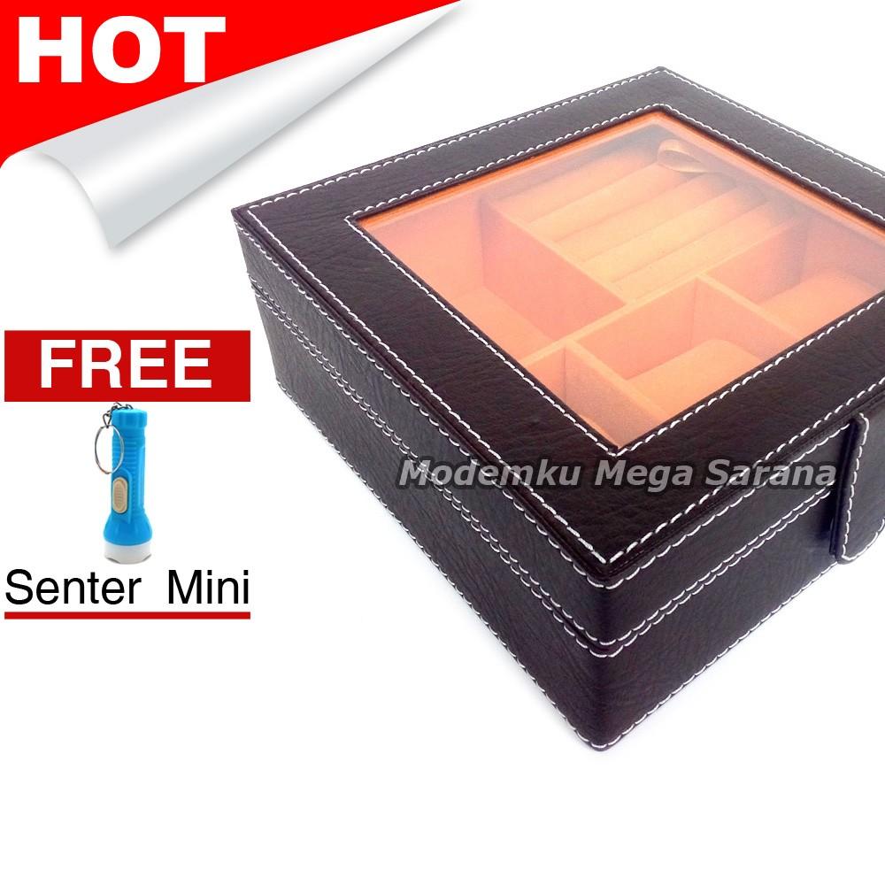 Kotak Make Up 21x14x16 Cm Vinyl Atk01 Coklat Gratis Gunting Kuku P3k Mobil Deluxe Mini Shopee Indonesia