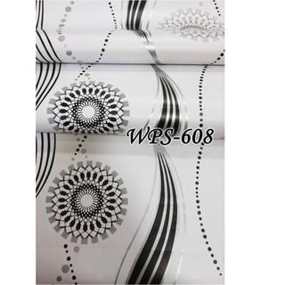 wps608 wallpaper stiker shabby white classic walpaper
