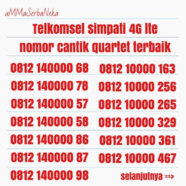 nomer cantik simpati seri BOS ( 805 ) telkomsel 4G lte best nomor hoki   Shopee Indonesia