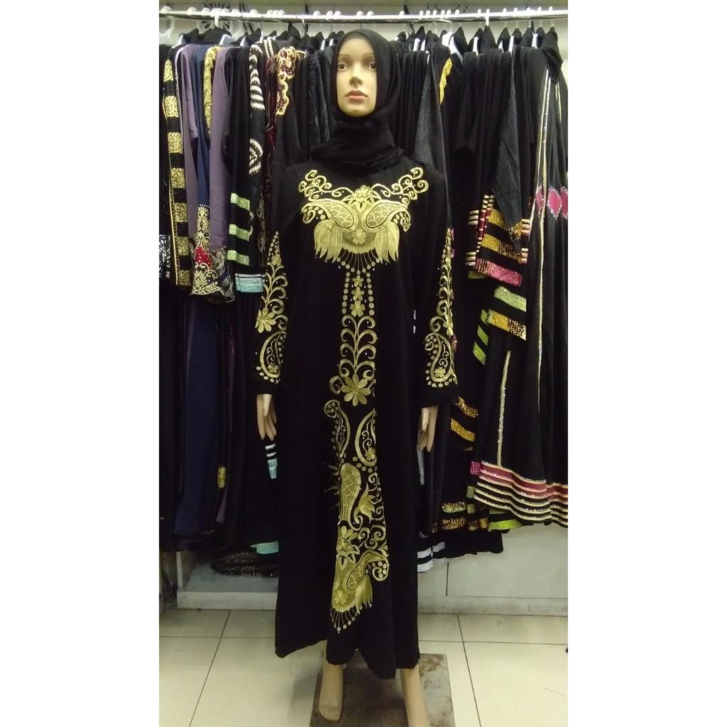 Abaya bordir gold