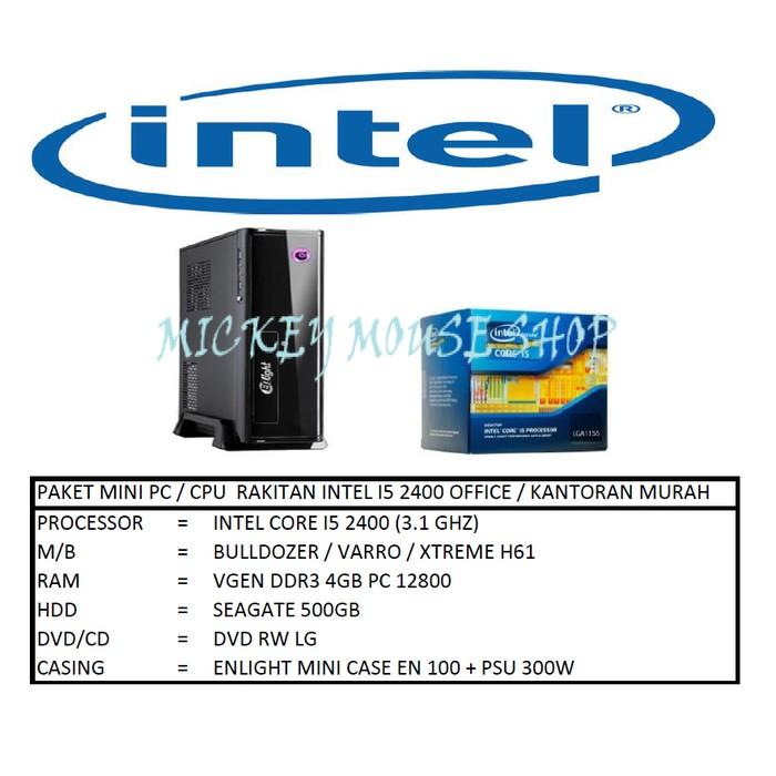 PC PAKET MINI PC / CPU RAKITAN INTEL I5 2400 OFFICE / KANTORAN MURAH