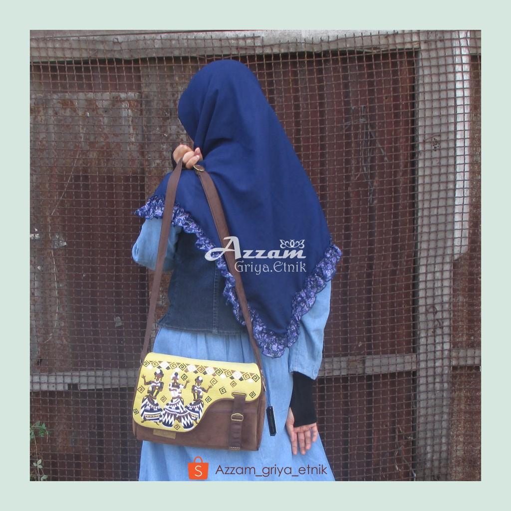 Tas Wanita Etnik GBO Makara Blue Bells Selempang Grosir Murah Handmade  Berkualitas  fee1738bb7