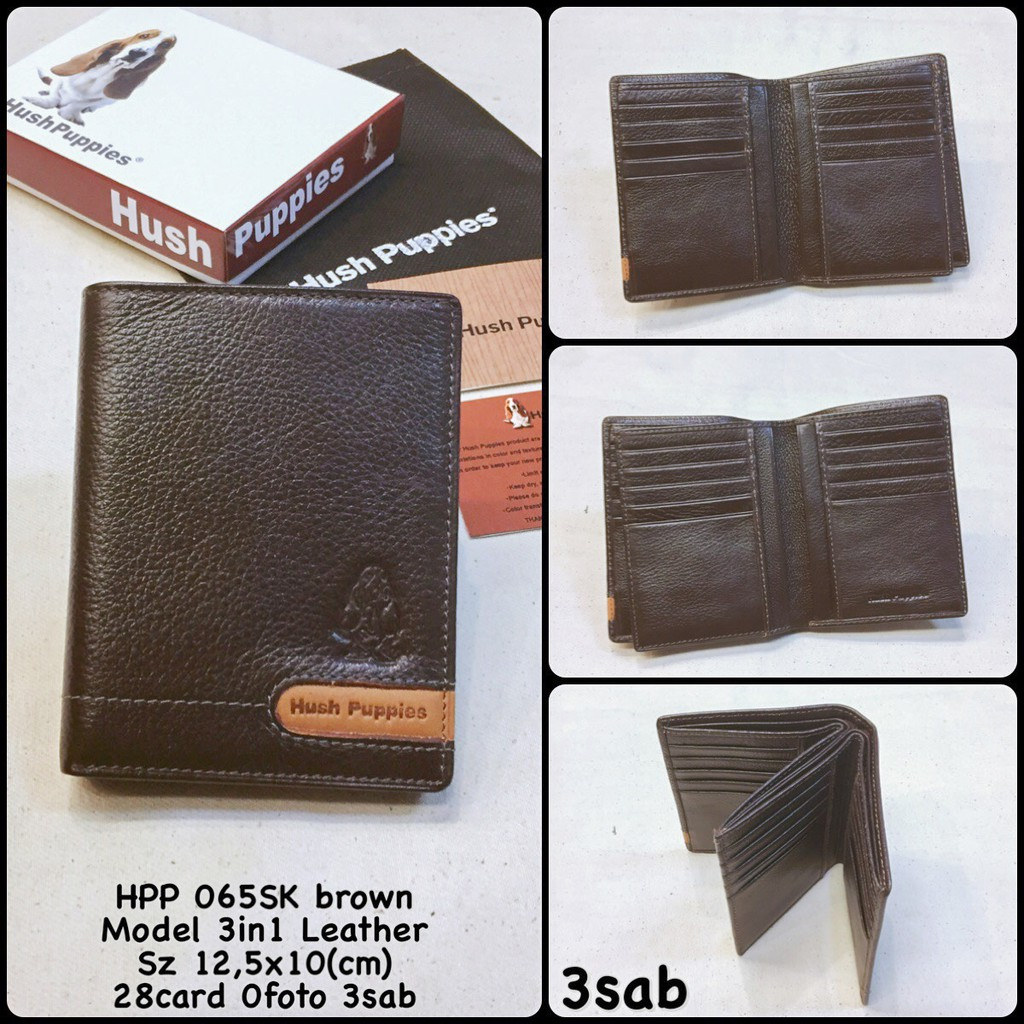 dompet hushpuppies 065Sk brown replica dompet cowok dompet kulit dompet  murah dompet kartu  0f535d50ae