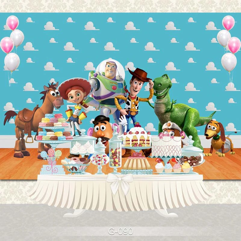 Toy Story 4 Photography Backdrop Birthday Party Prop Kids Photo Background