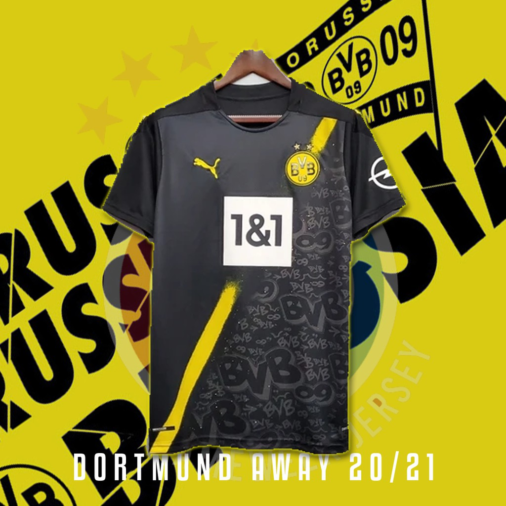 Borussia Dortmund Away 20 21 Jersey Grade Ori Shopee Indonesia