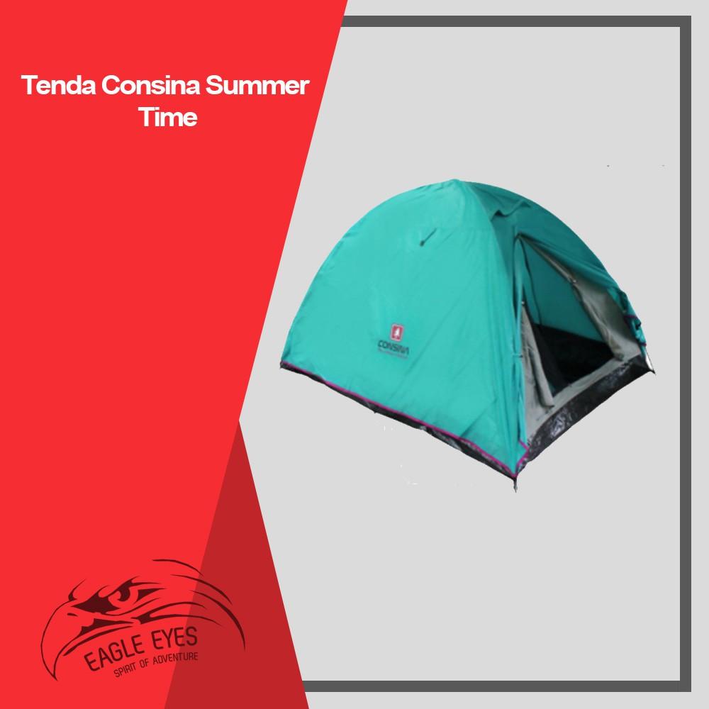 Consina Summer Time Tenda Dome Tents Camping Lampu Model Bulat Bakpau Gunung Capacity 3 Person Shopee Indonesia