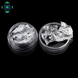 [Bayar Di Tempat]Stiker Foil Glitter Emas Silver 3D untuk Dekorasi Manicure DIY 4