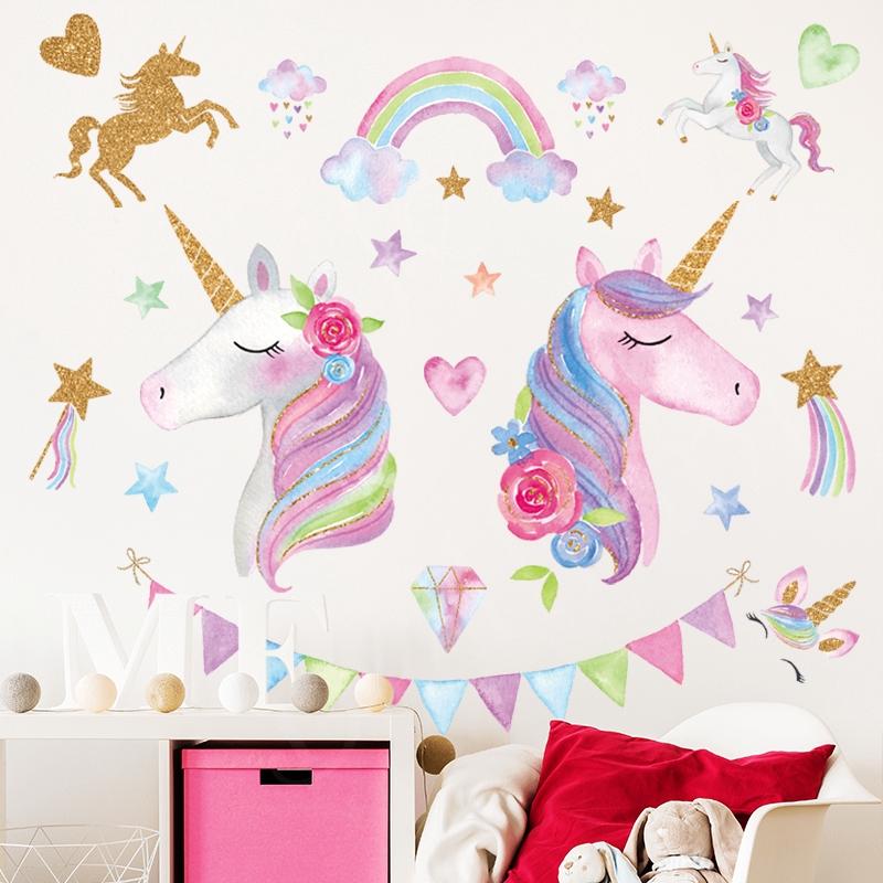 Tk Kelas Unicorn Pink Gadis Jantung Ins Dekorasi Kamar Anak Anak Yang Hangat Wallpaper Self Adhesive Lb Shopee Indonesia