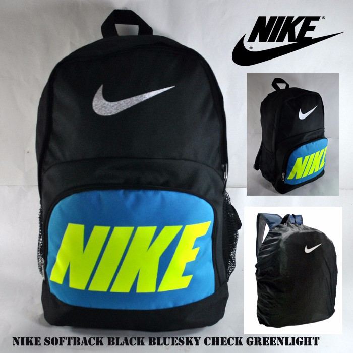 Tas ransel nike softback black bluesky sport sekolah laptop anti air ... 84d5bb8088