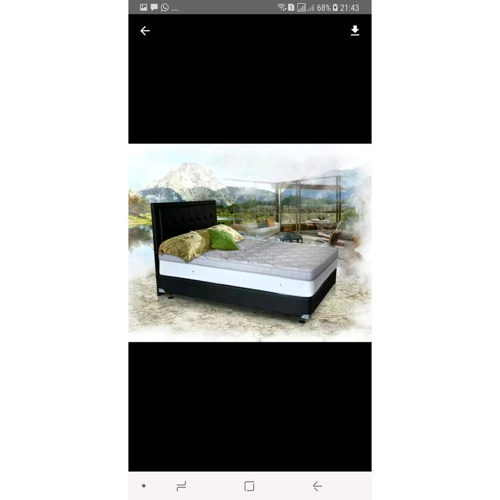Spring Bed Latex Divan Ukuran 180x200 Shopee Indonesia Uniland Paradise Plushtop Dakota 200x200 Kasur Tanpa Sandaran Jadebotabek Only