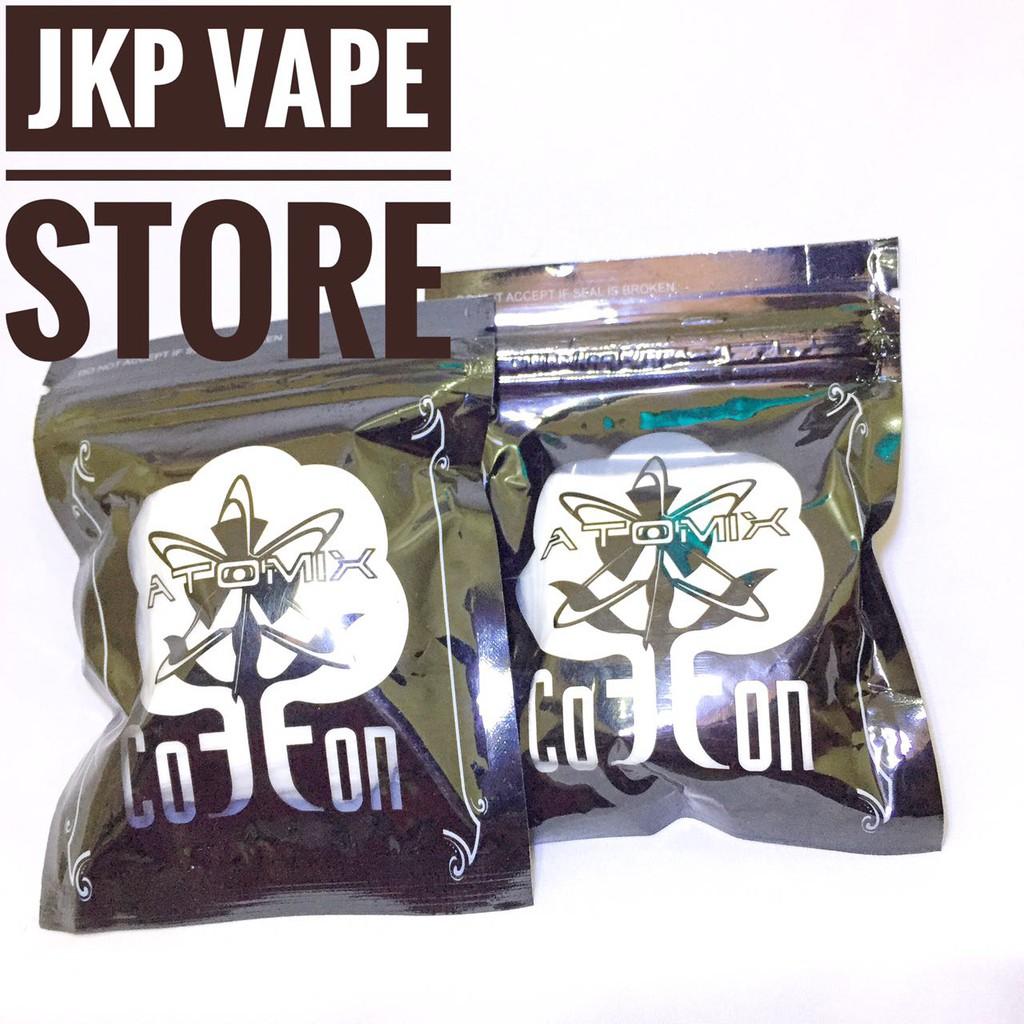 Atomix Cotton Premium Blend Authentic Shopee Indonesia Coklat Kapas Organik Vapor