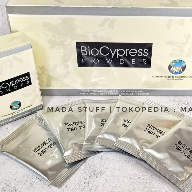 Biocypress Powder - box produk original