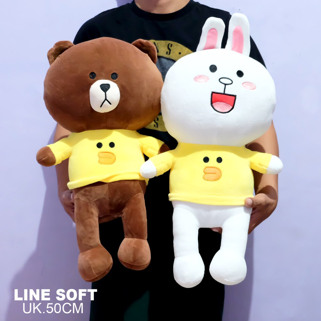 Boneka Hadiah Special Valentine Couple Line Friends Brown Cony Love ... 74879a0f96