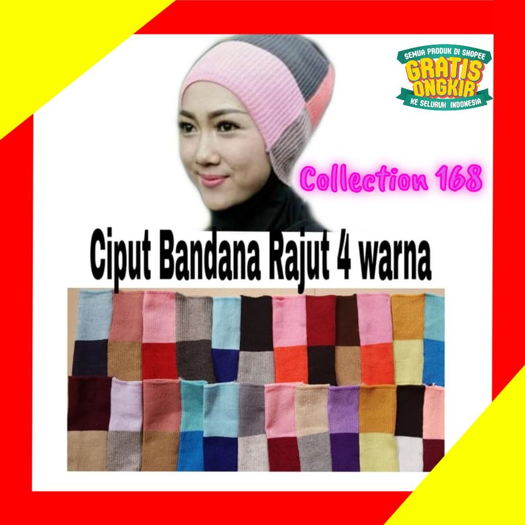 Inner Pesta Gliter Tile Payet Ciput Rajut Anti Pusing Bandana Daleman Kerudung Dalaman Jilbab Hijab Renda