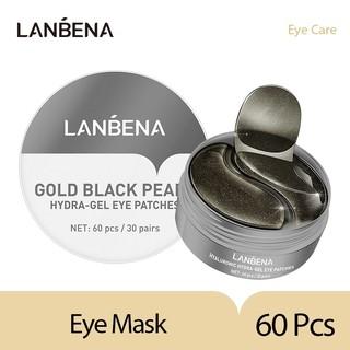 LANBENA Gold Black Pearl Collagen Eye Mask Patches 60 Pcs thumbnail