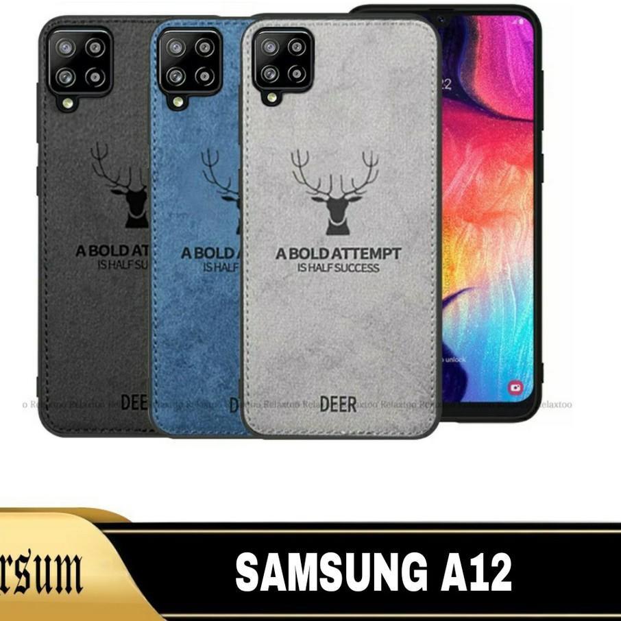 Wow Murah Meriah - 3IN1 DEER Case Samsung A12 / 2IN1 Softcase SAMSUNG A12 / Casing Samsung A12 + Tem
