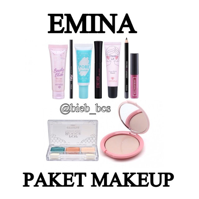 NEW!!! PAKET MAKEUP EMINA | Shopee