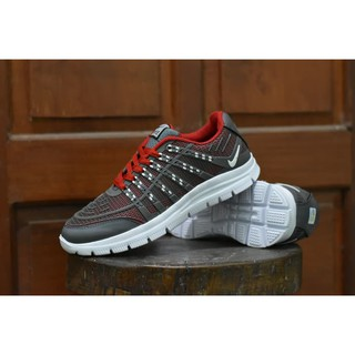PROMO Sepatu Sport Nike Airmax 3D Skin Abu Abu Merah Running HARGA TERMURAH 057db51c62
