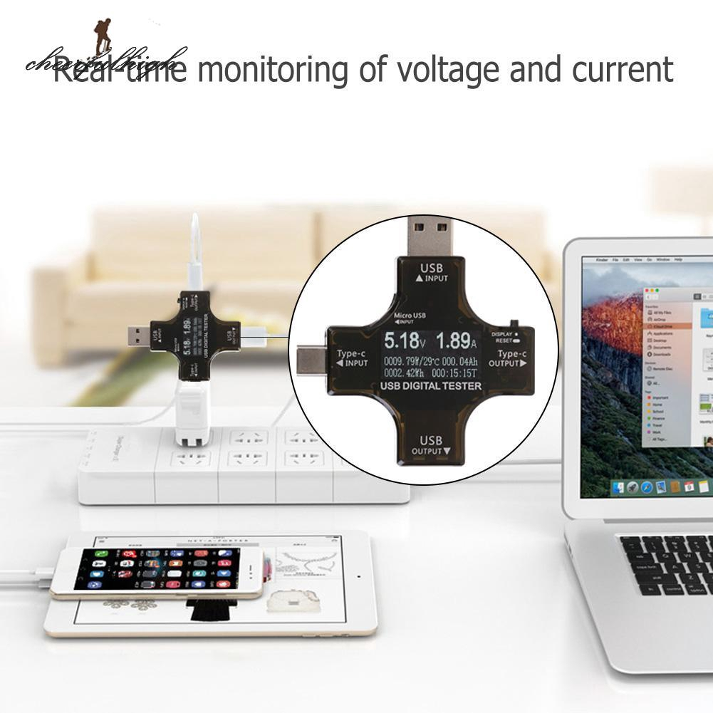 USB Type-C Tester Wireless Bluetooth DC Digital Voltmeter Current Voltage Detect