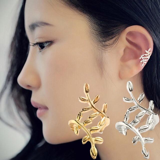 Unik Anting Korea Daun Asimetris Asymmetric Leaf Clip Dangle Earring Beauty Murah   Shopee Indonesia