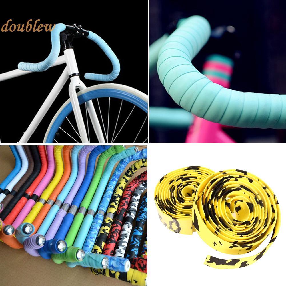Handlebar Cycling Road Bike Bicycle Rubber Sports Handle Bar Grip Wrap Plug Tape