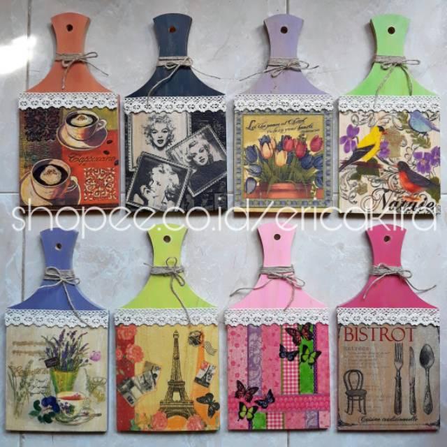 Talenan DECOUPAGE Shabby Chic   Dekorasi Rumah Vintage   Hiasan Dinding  Unik Kayu 30x15cm BIRDS  71f1471f01