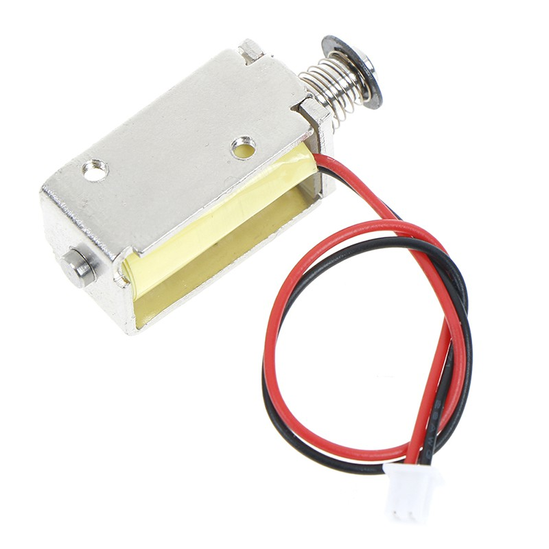 DC 12V Push-Pull Type Solenoid Electromagnet Micro Solenoid Magnet Stroke 4mm