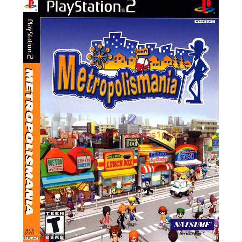 Metropolismania Cd Ps2 Kaset Ps2 Game Ps2 Shopee Indonesia