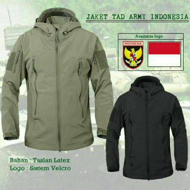 Jaket PUBG TAD ARMY - Jaket Waterproof- Tersedia 3 Pilihan Warna ... d80d55752f