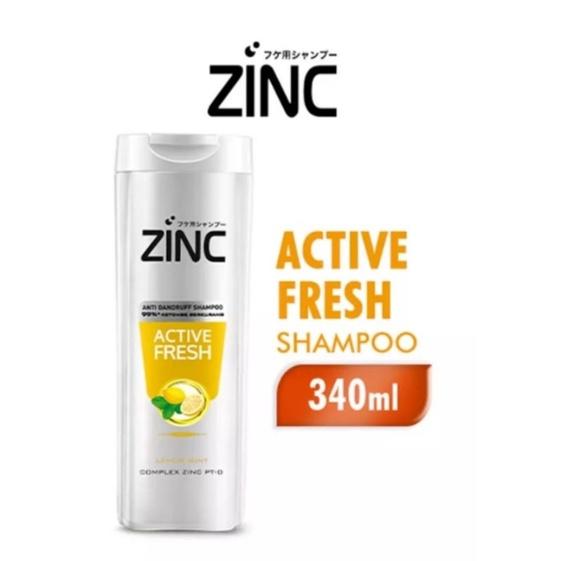 (340 ml) zinc shampoo botol besar-Fresh active